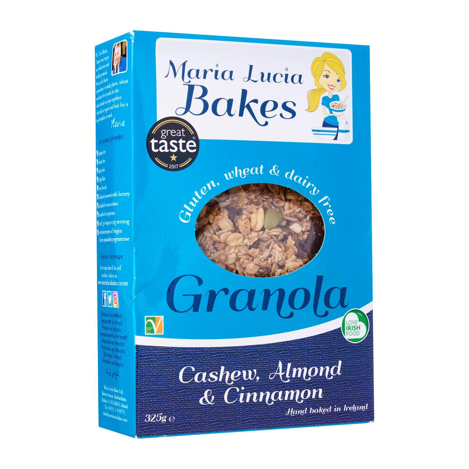 Maria Lucia Bakes Gluten-Free Cashew Almond And Cinnamon Granola - By Inish Bia