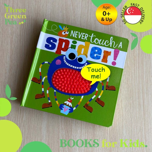 Touch and Feel Book Never Touch a Spider Children Board Book for babies