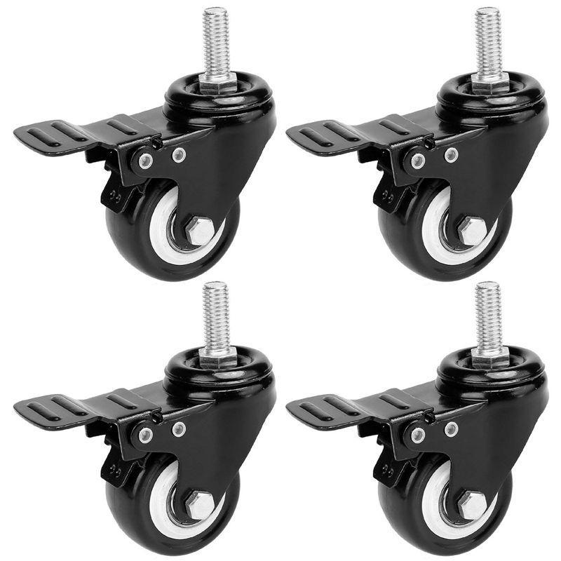 4 x Casters 50mm Swivel Castor Wheels Trolley Furniture Caster Heavy Duty