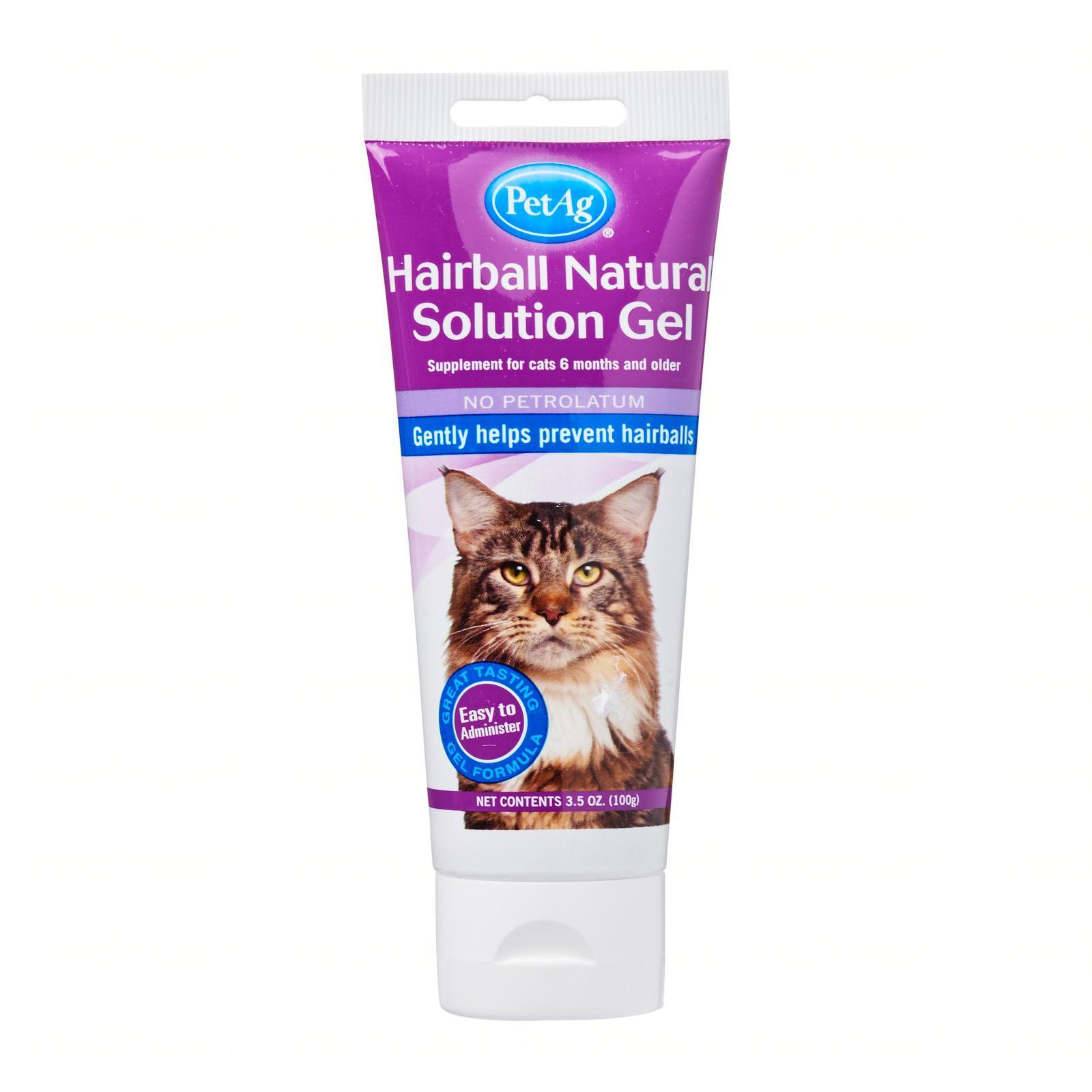 PetAg Cat Hairball Natural Solution Gel 3.5oz