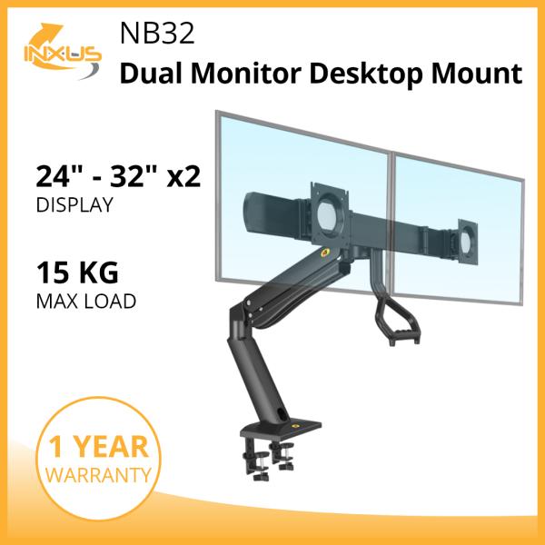 NB32 Dual Monitor Desktop Mount / Dual Monitor Bracket / Monitor Mount / International Vesa Compatible
