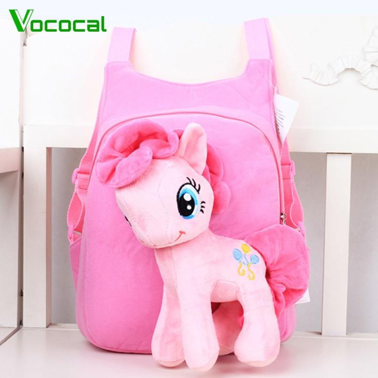 Vococal Children Cute 3d Horse Cartoon Pony Schoolbag Backpack For 3-7 Years Old Kids Pink (in Stock)- Intl By Vococal Shop.