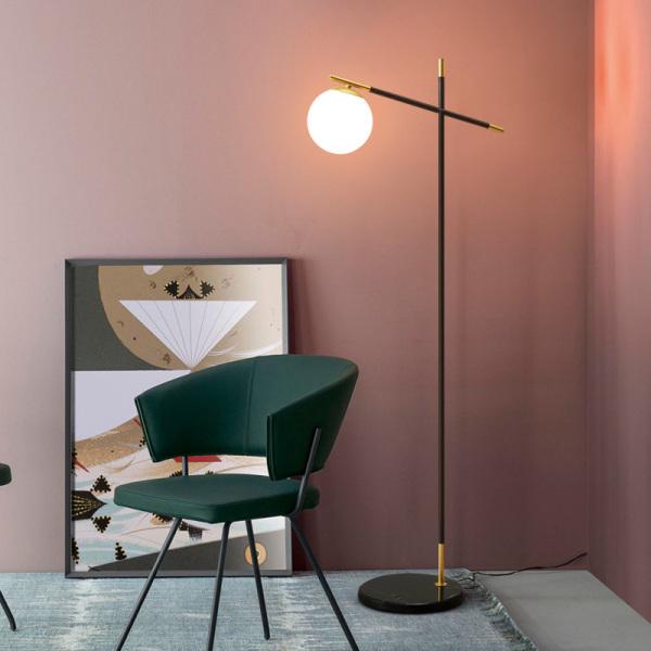 Northern Europe Creative Cool Marble Floor Lamp Art Light Luxury Decoration Living Room Bedroom LED Minimalist Lamps