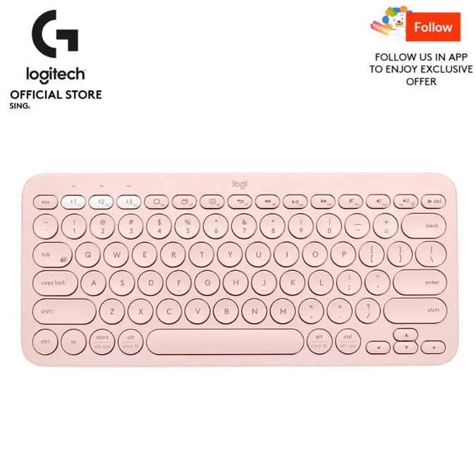 Logitech K380 Slim Multi-Device Bluetooth Keyboard (iOS, Android, OSX, iPhone) with Logitech FLOW Technology Singapore