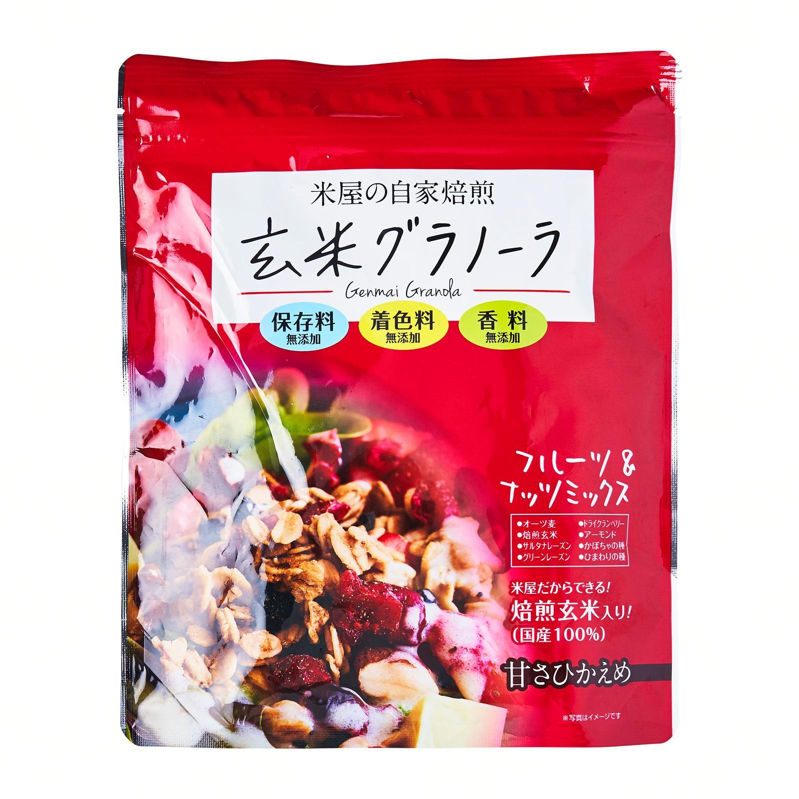 Koufuku Beikoku Genmai Fruit And Nut Mix Granola