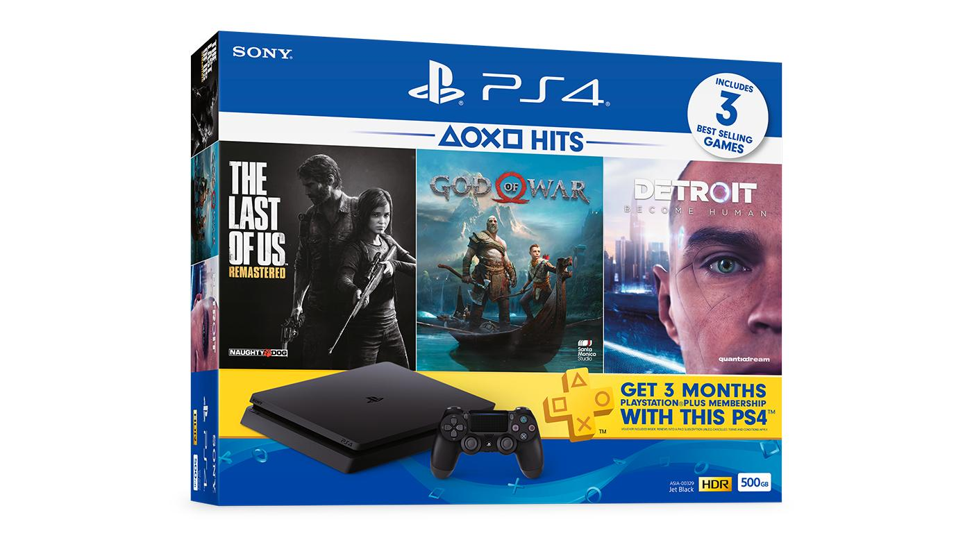 PS4 3 Games Hits Console Bundle [Official 15 Months Warranty]