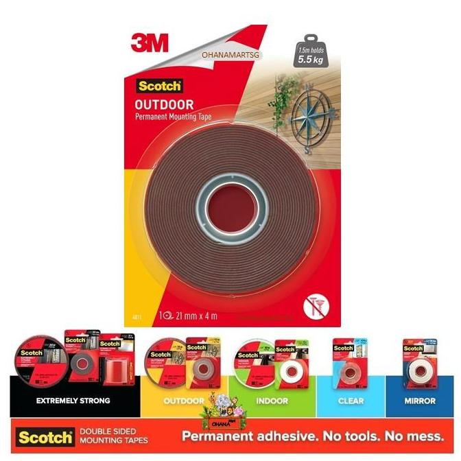 3M Scotch® Outdoor Permanent Mounting Tape 4011 ( 21mm x 4m )