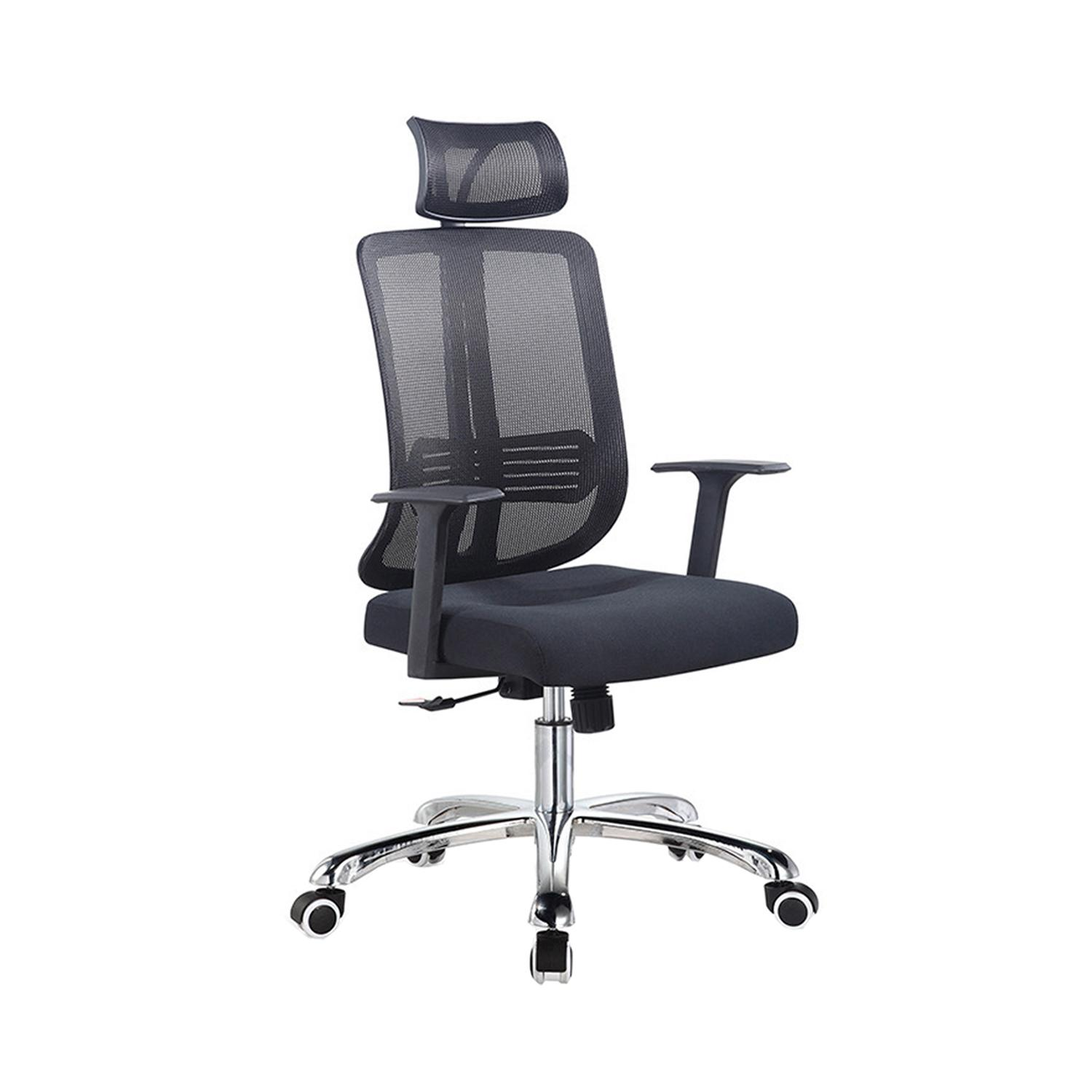 LIVING MALL_Letha Office Chair in Black_Height Back Rest_FREE DELIVERY