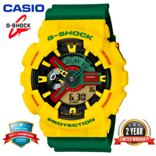 (Ready Stock) Original Casis G Shock Ga 110Rf 9A Men Sport Watch Duo W Time 200M Resistant Shockproof And Waterproof World Time Led Auto Light Wist With 2 Year Warranty Ga110 Ga 110 Malaysia