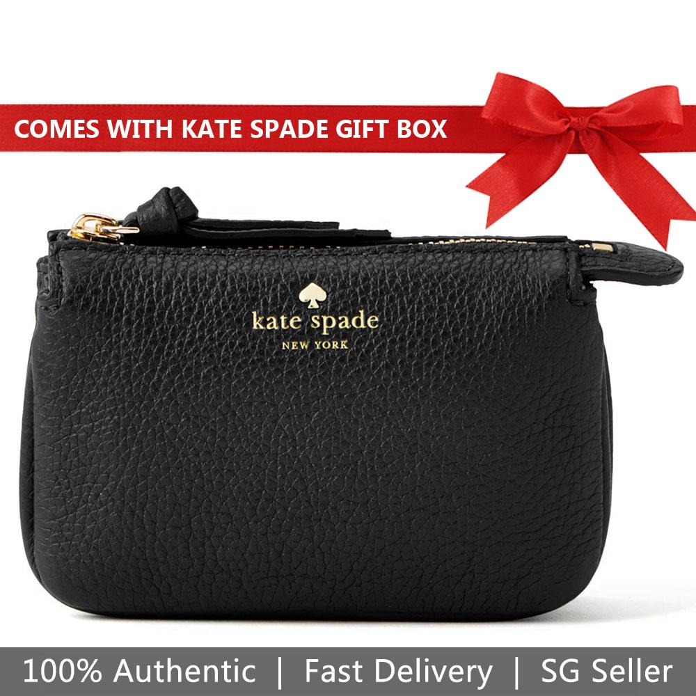 7b60731651c16 Kate Spade Coin Case Card Case In Gift Box Larchmont Avenue Mini Natasha  Card case Black