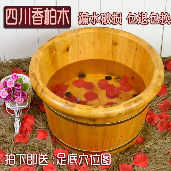 Cedarwood Foot Bath Wooden Bucket Foot Bath Tub Foot-bath Pot Wash Tub pao jiao tong Foot Bath Tub Singapore