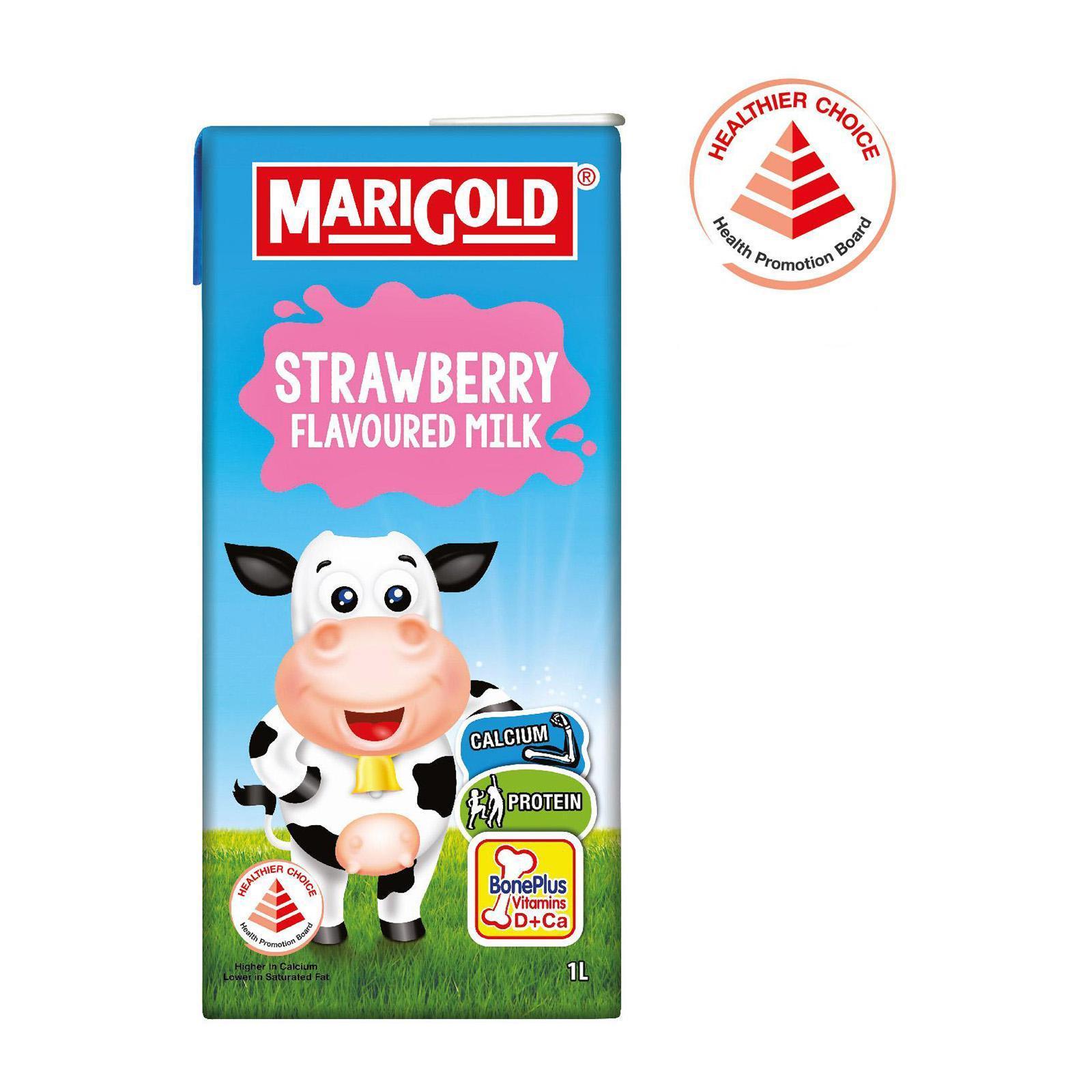 Marigold Uht Strawberry Milk By Redmart.
