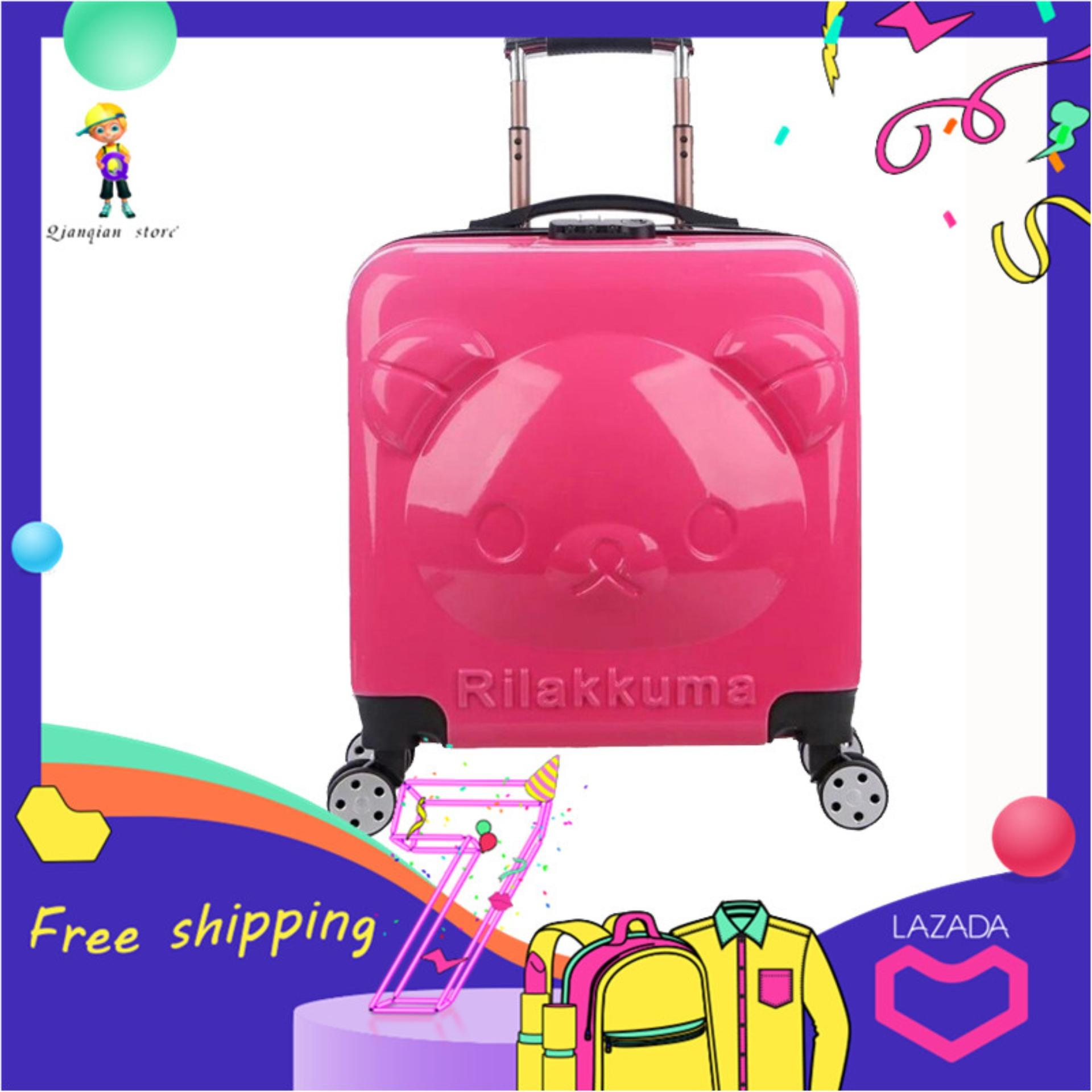 3d Cubs 20 Inch Childrens Pull Box Universal Wheels Suitcase By Qianqian Store.
