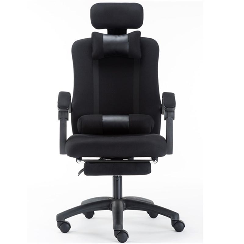 TZH Ergonomic Grid Cloth with Thick Sponge & Nylon(Polyamide) Feet Home / Office Computer Chair (Free 2x Backrest)