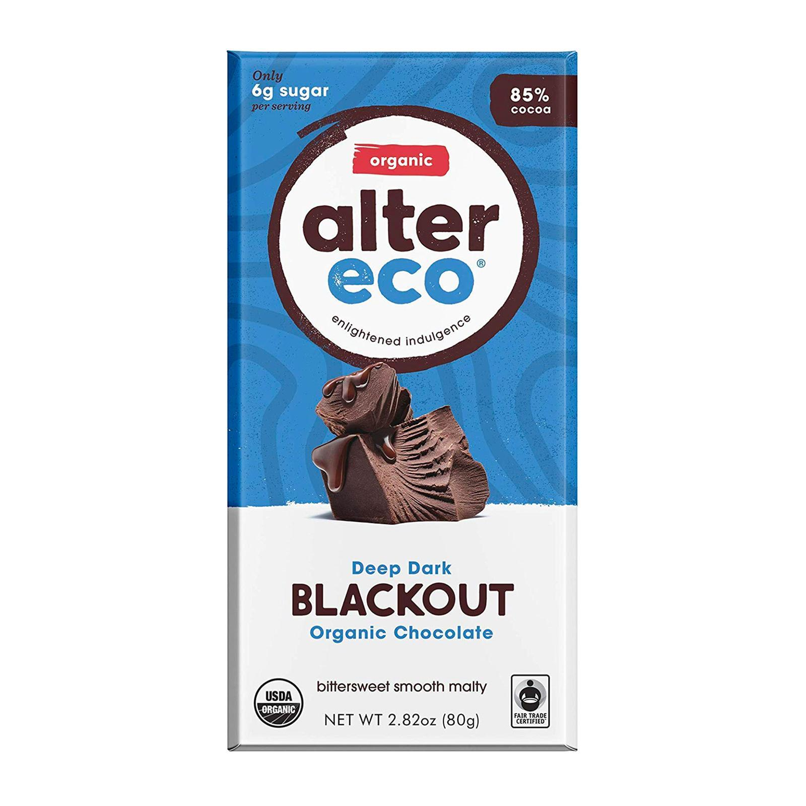 Alter Eco Organic Deep Dark Blackout Chocolate - By Wholesome Harvest