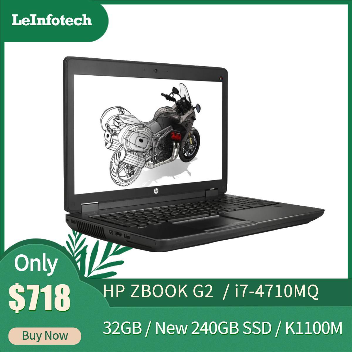 Hp Zbook 15 G2 Mobile Workstation /i7-4710MQ #2.6Ghz /32gb Ram/ New 240GB SSD/ Nvidia K1100M 1gb/ Win 10 Pro / 15inch LED / Refurbished