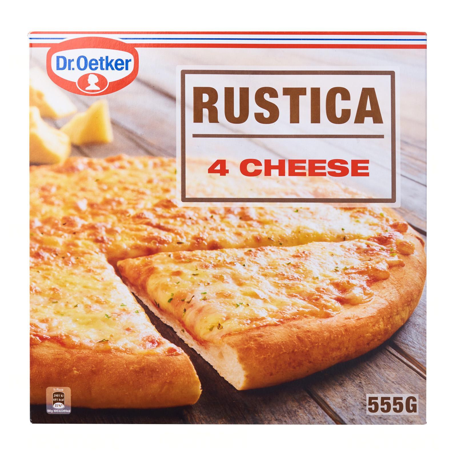 Dr Oetker Rustica 4 Cheese Pizza - Frozen