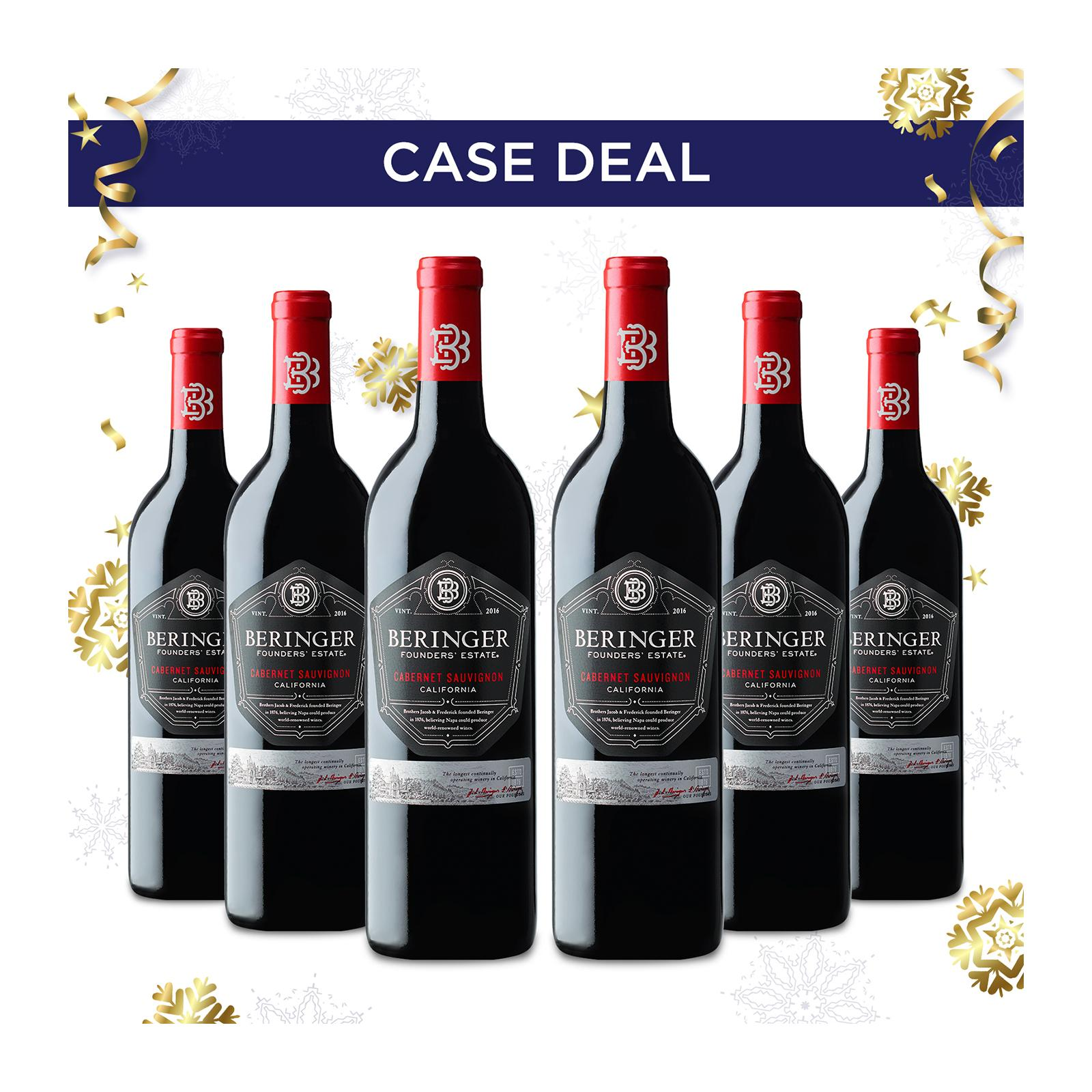 Beringer Founders Estate Cabernet Sauvignon - Case - By Wine Collection