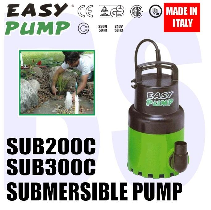 BANSOON EASYPUMP SUB Series Multi-Purpose Submersible Pump. Pond. Water Feature. Small Irrigation. Clean Water Pump.