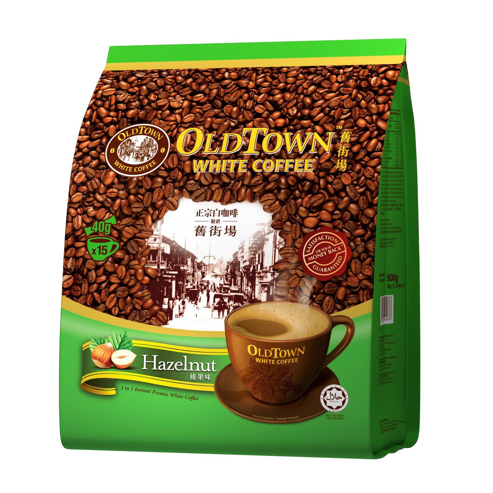 OLD TOWN White Coffee 3 in 1 Hazelnut 15sX38g