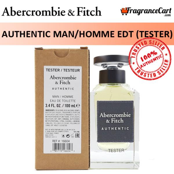 Buy Abercrombie & Fitch Authentic Man/Homme EDT for Men (100ml Tester) Eau de Toilette A&F [Brand New 100% Authentic Perfume/Fragrance] Singapore