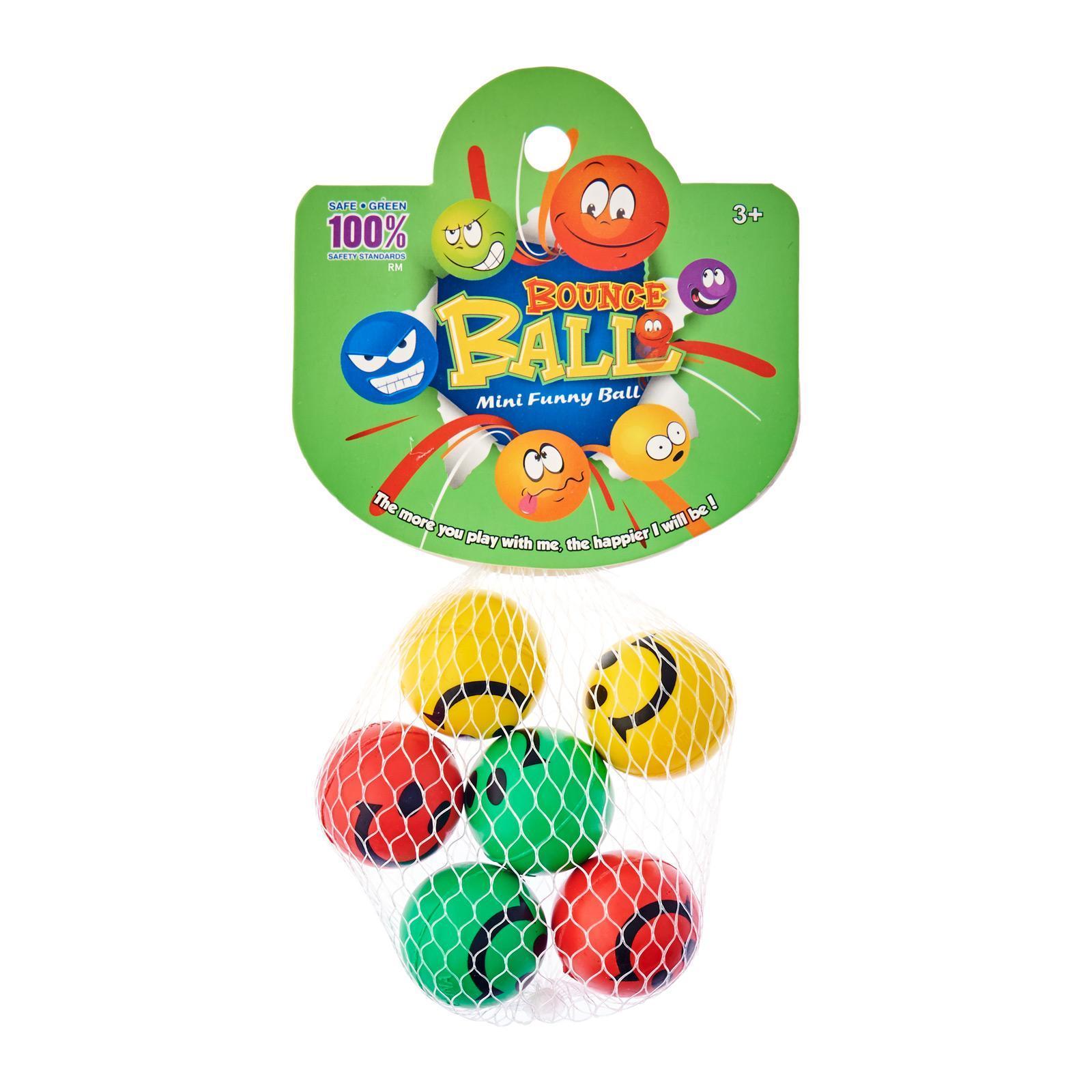 MTrade 3.3Cm Smile Face Bounce Balls 6 PCS/Pack Party Favor