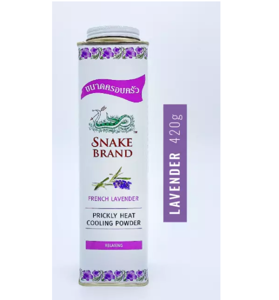 Buy (BUNLDE OF 9) Snake Brand Prickly Heat Cooling Powder 420g Big Size Value Lavender Singapore