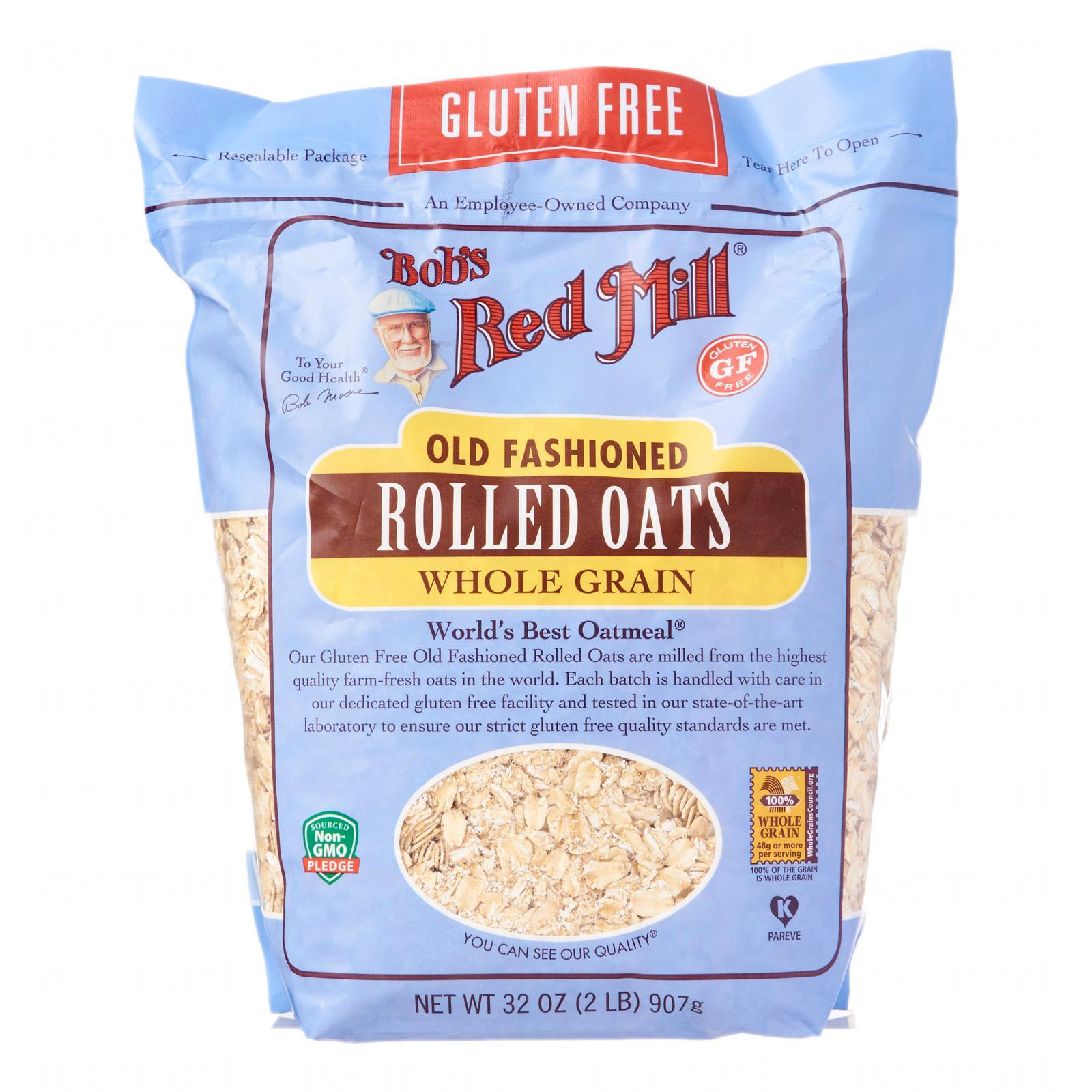 Bob's Red Mill Gluten Free Whole Grain Old Fashioned Rolled Oats