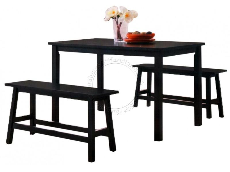 (furnituresg) Solid Wooden Dining Table And 2 Benches By Furnituresg.