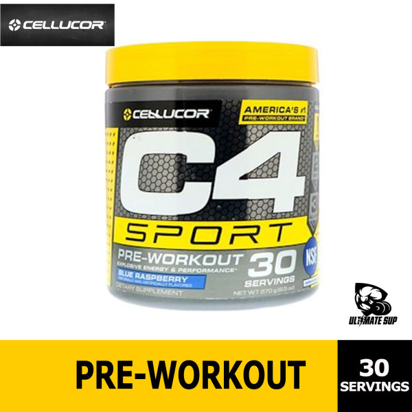 Buy Cellucor C4 Sport Pre Workout Powder | NSF Certified for Sport + Sugar Free Pre-Workout Energy Supplement for Men & Women | 135mg Caffeine + Creatine Monohydrate | 30 Servings Singapore