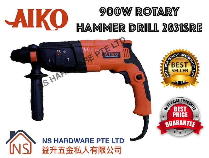 AIKO ROTARY HAMMER ELECTRICAL DRILL Z1A-HB-2831SRE CONCRETE DRILLING GOOD QUALITY 900W 230V