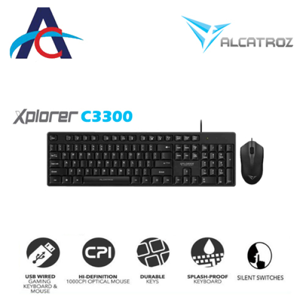 Alcatroz Xplorer C3300 Wired Keyboard and Mouse Singapore