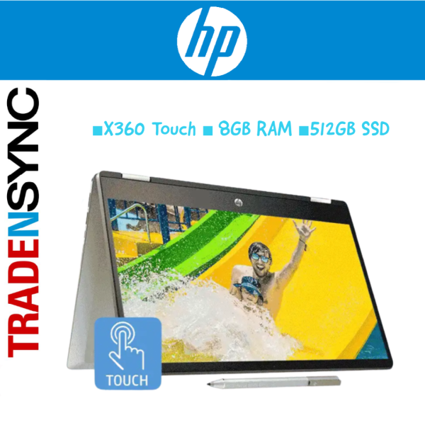 HP Pavilion X360 |14-DH1031TX (8NW44PA) | i5-10210U | 8GB RAM | 512GB SSD | 14INCH FHD | (Touch Screen with Active Pen) Convertible Laptop (14-dh1031TX)