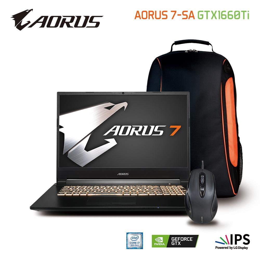 AORUS 7-SA LG 144Hz FHD (i7-9750H/16GB SAMSUNG DDR4 2666 (8GB*2)/GeForce GTX 1660 Ti GDDR6 6GB/512GB INTEL 760P PCIE SSD/17.3 Thin Bezel LG 144Hz FHD IPS/WINDOWS 10 HOME) [Ships 2-3 days]