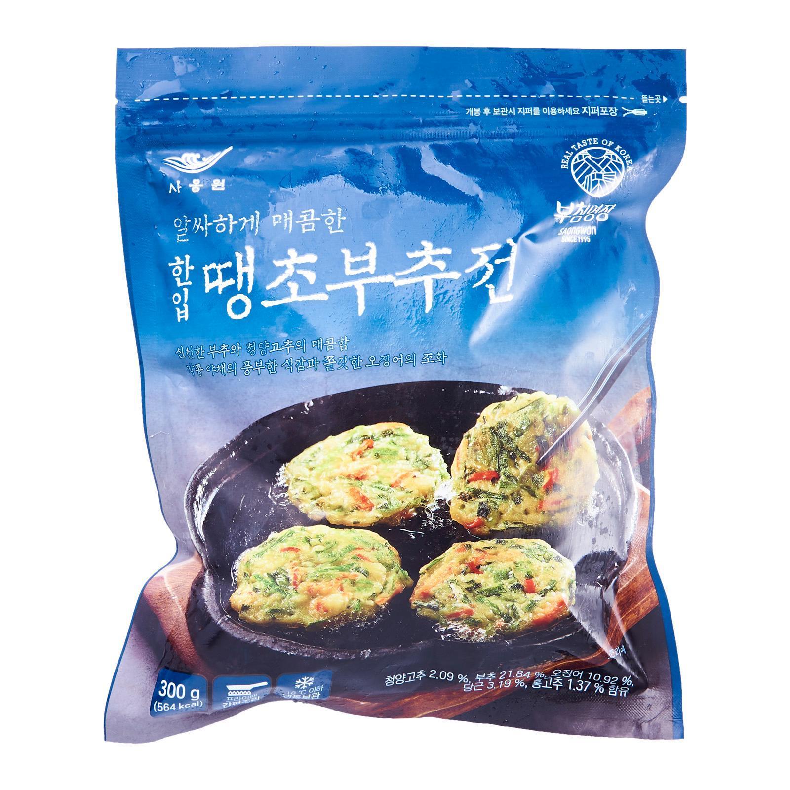Saongwon Korean Spicy Leek Mini Pancake - Frozen
