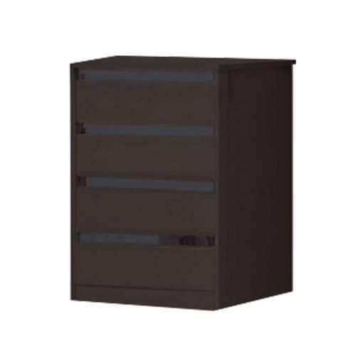 [A-STAR] EMILIA CHEST OF DRAWERS IN WHITE / WALNUT
