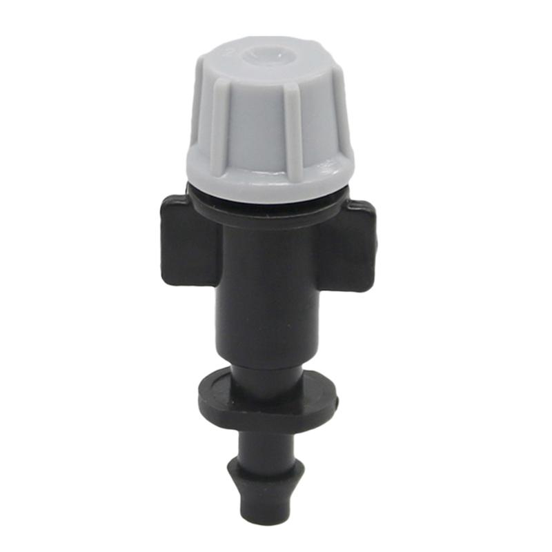 1/4 Inch Gray Atomizing Nozzle With Barbed Greenhouse Misting Watering Irrigation For 4/7Mm Hose 20 Pcs