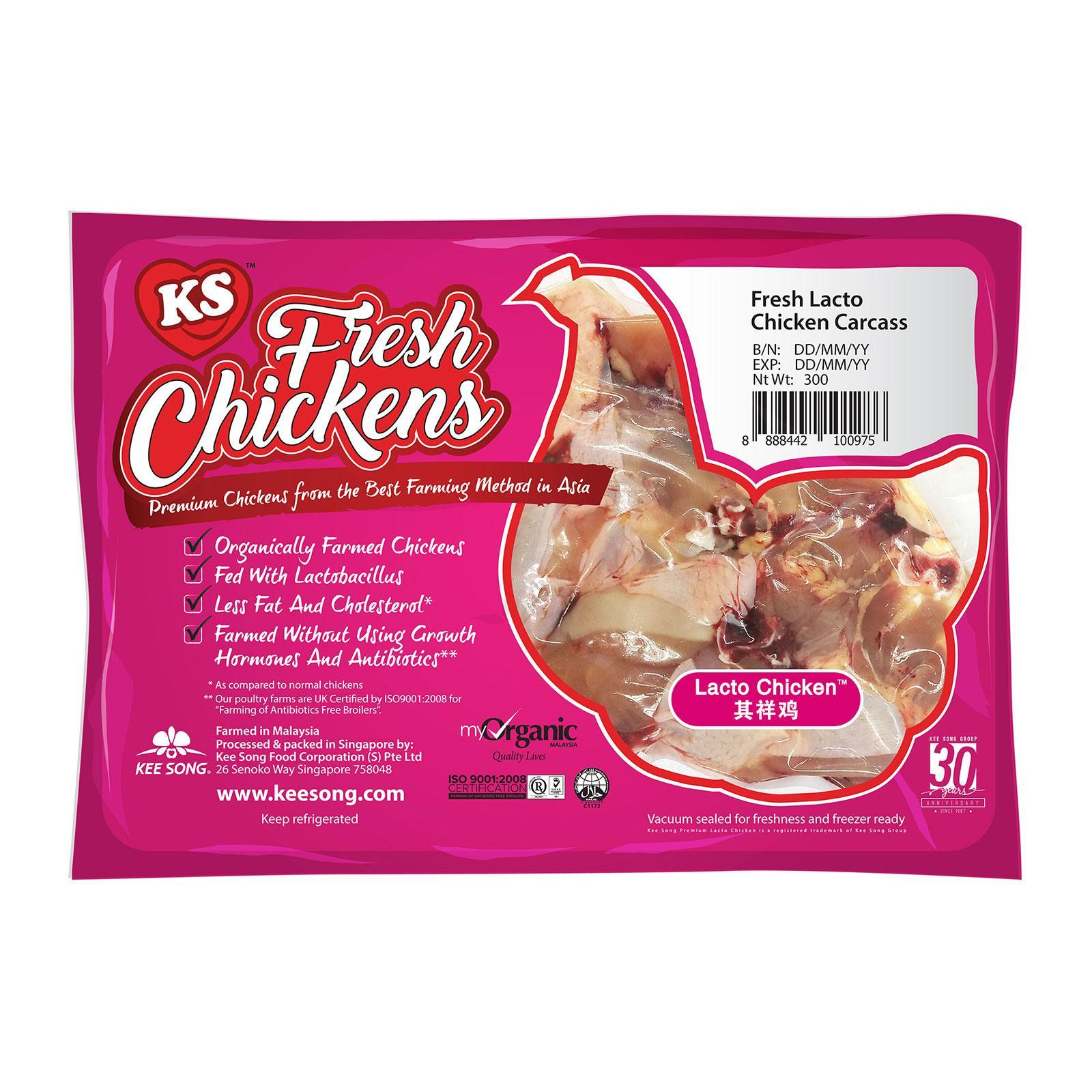 Kee Song Fresh Organic Lacto Chicken Carcass By Redmart.