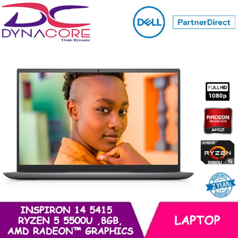 【READY STOCK】DYNACORE - DELL Inspiron 14 Laptop 5415 14 FHD   Ryzen™ 5 5500U   8GB RAM   512GB SSD   AMD Radeon™ Graphics   WIN 10 HOME   2 YEARS WARRANTY