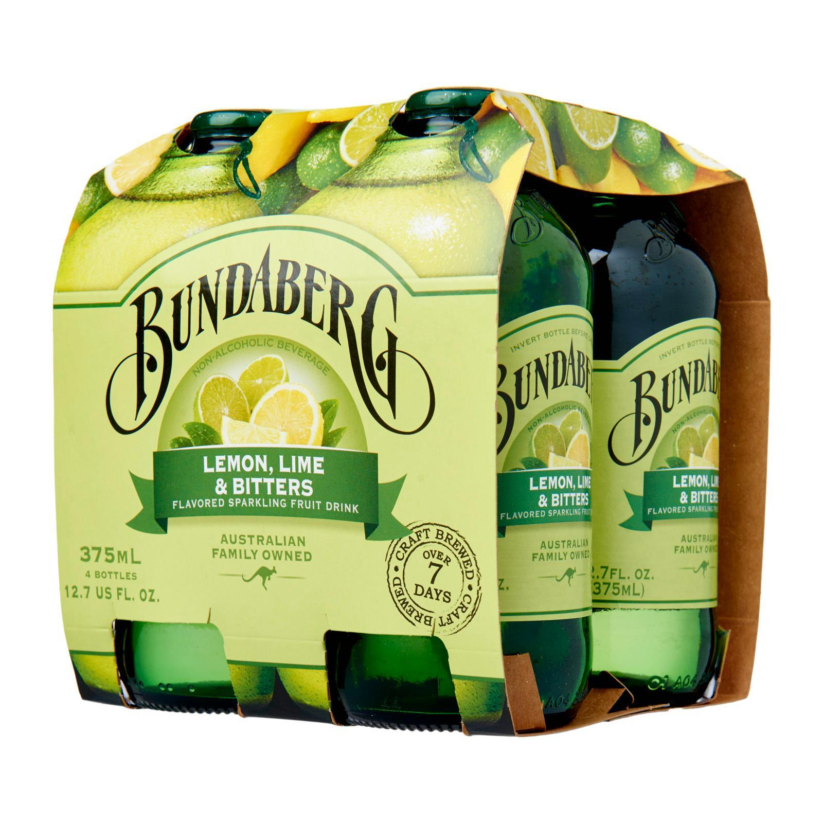 Bundaberg Sparkling Fruit Bottle Drink - Lemon,Lime&Bitters