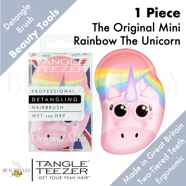 Buy Tangle Teezer The Original Mini Rainbow The Unicorn - Detangler Hairbrush Untangle Every Strand of Hair Quickly & Gently • Perfect for Little Hands Singapore