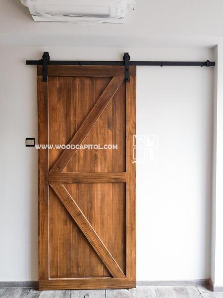 Wood Capitol Barn Door
