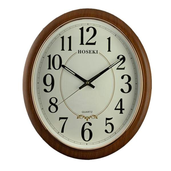 HOSEKI H-9420 H-9419 Round/ Oval Design Luminous Wall Clock Decor Silent Sweep Non-Ticking 3D Large Number Battery Operated For Living Kitchen Office Decoration Classical Modern Minimalist No Noise Noiseless Simple Wall Clock