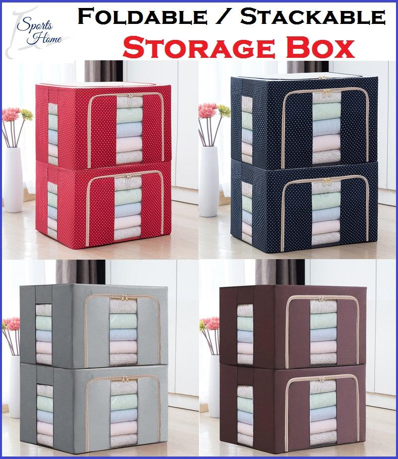 Home Organisation Storage Box Foldable Wardrobe Cabinet Shelving Home Decoration Decor Stackable Shelf Rack Storage Boxes