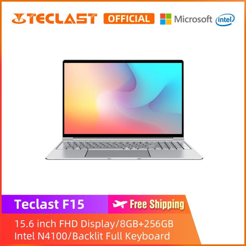 【Teclast Official】F15 Laptop/15.6 inch/Intel Gemini Lake N4100 CPU /Windows 10/8GB+256GB SSD/ 1920X1080 Resolution/Backit Full Keyboard/Dual Band WIFI