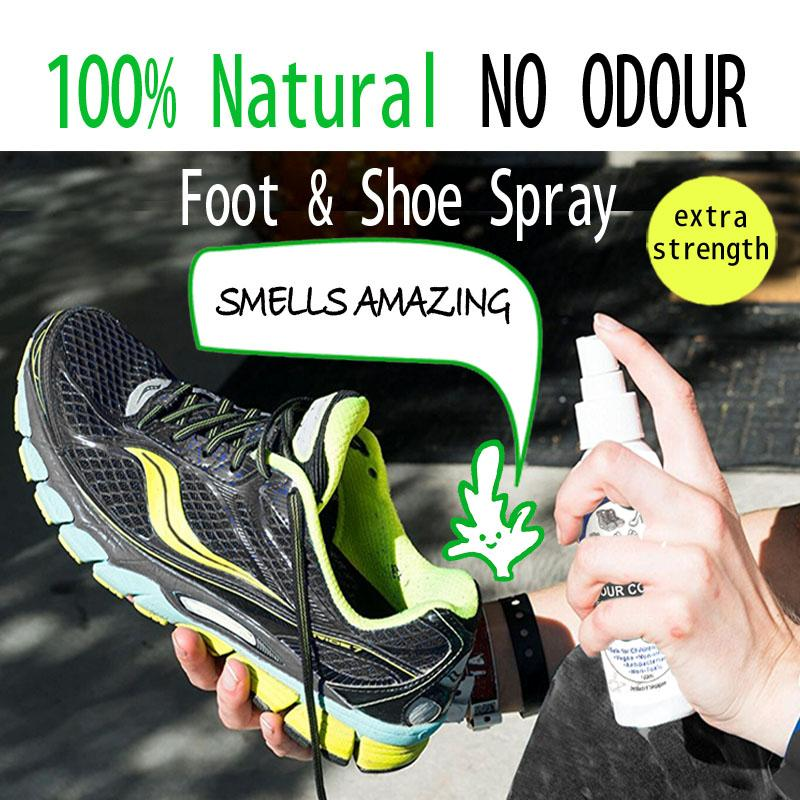 All Natural Shoe Deodorant Spray No More Smelly Shoes Premium Ingredients Made From Lavender, Peppermint And Orange Essential Oil By A Green Product.