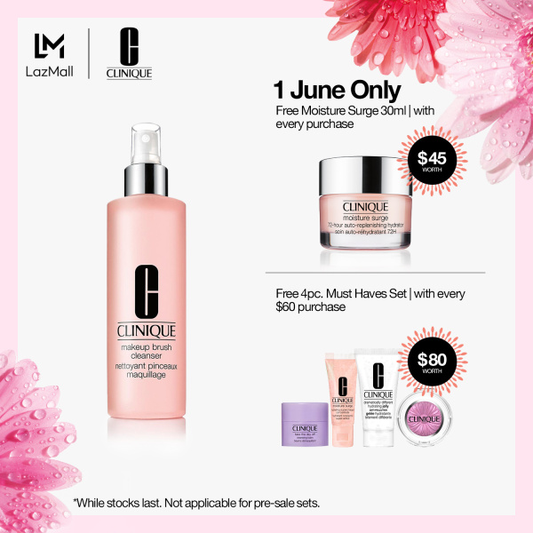 Buy Clinique Makeup Brush Cleanser 236ml Singapore