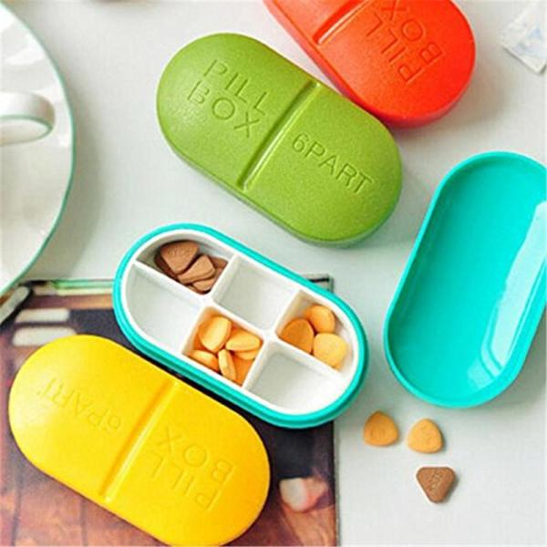 Portable Compartment Travel Pill Box (LLS1124) Singapore Seller + 100% Authentic.