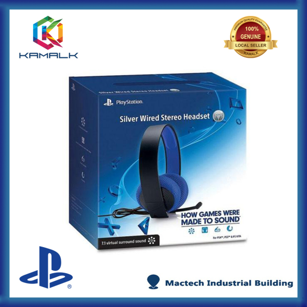 PS4 Silver Wired Stereo Headset + 1 Week Warranty Singapore