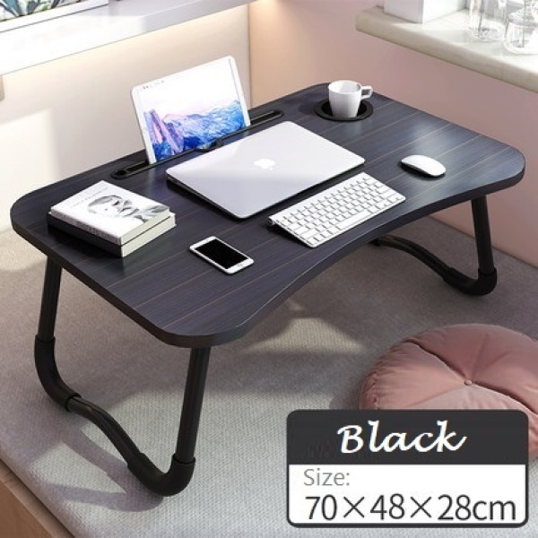 Laptop Table for Bed - Foldable Laptop Table Bed Portable Desk, Laptop Bed Tray, Laptop Stand, Small Dormitory Table, Breakfast Serving Bed Tray